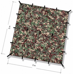 Beste tarp gelet op prijs-kwaliteitsverhouding DD Hammocks 3×3 tarp kopen