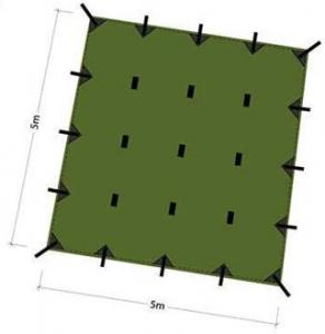 Beste tarp van groot formaat DD Hammocks 5×5 tarp kopen