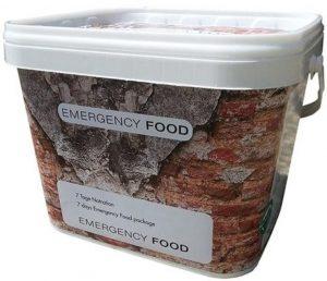 Gevriesdroogd noodpakket voedsel voor 7 dagen