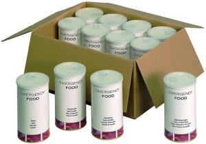 Noodpakket voedsel met 6 verschillende producten op basis van spelt